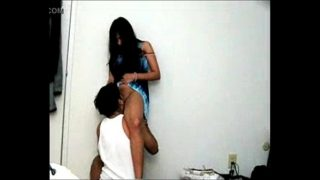 desi girl licked in standing position by bf hard